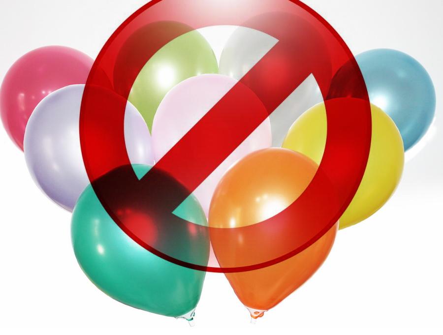 От воздушных шаров рекомендуют отказаться