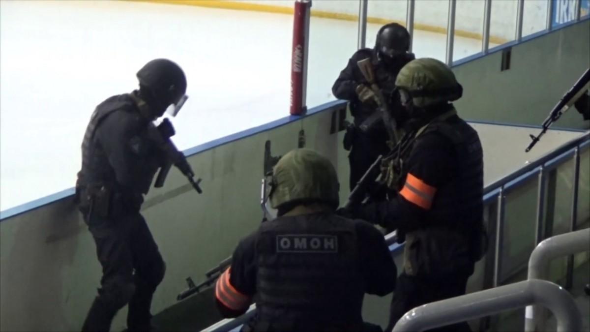 В иркутском ледовом дворце «Айсберг» состоялись антитеррористические учения