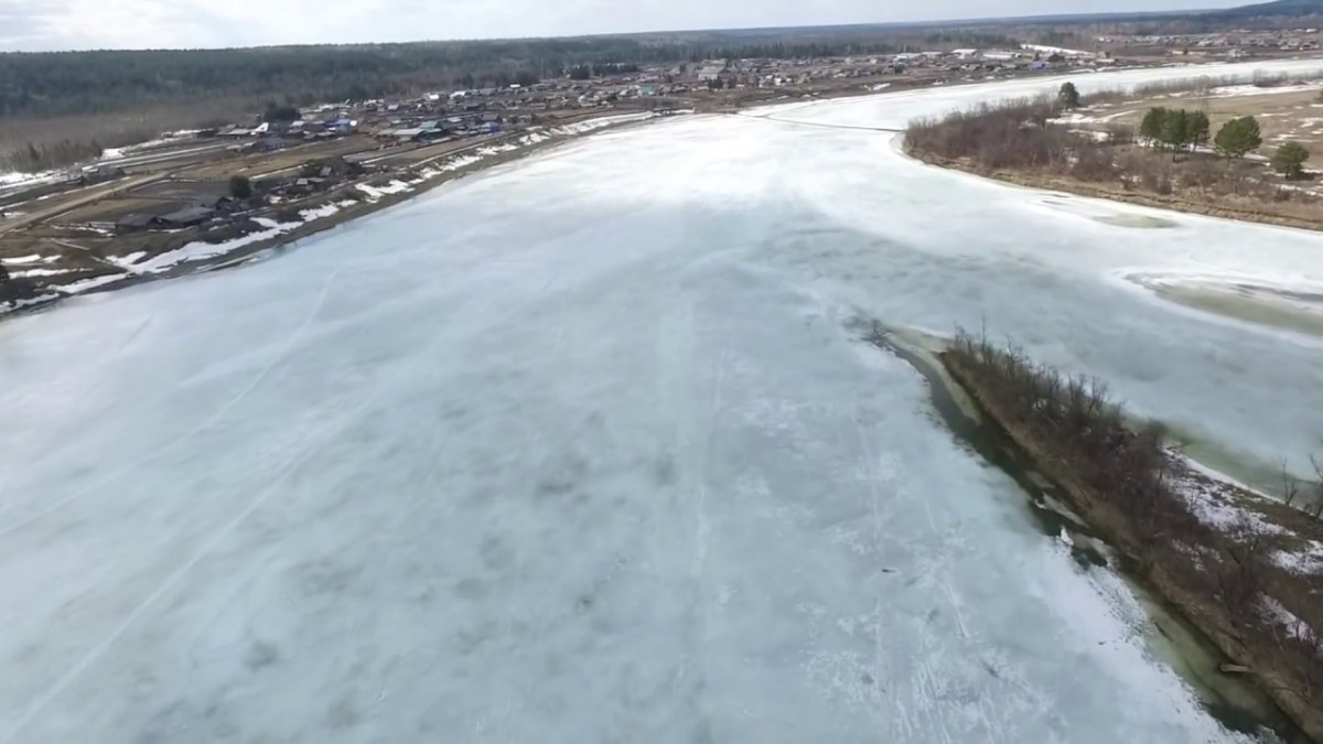 Как взрывали лёд на Бирюсе