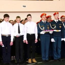 Иркутским юнармейцам вручили знамя